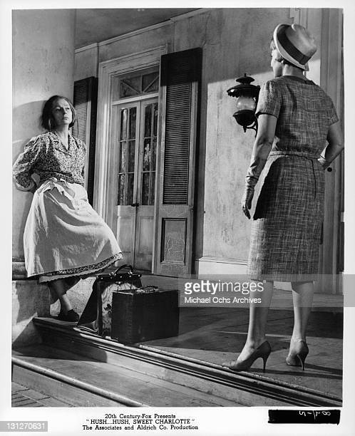 Agnes Moorehead leaning up against the wall in a scene from the film 'HushHush Sweet Charlotte' 1964
