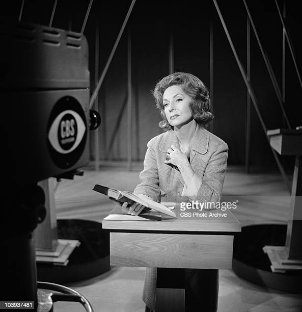 Agnes Moorehead reading for CAMERA THREE Image dated June 14 1962