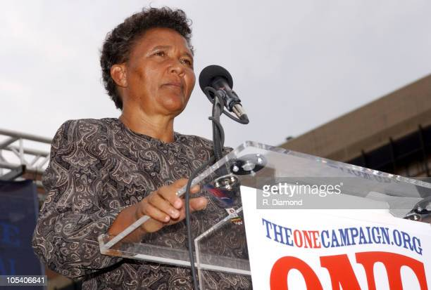 Agnes Nyamayarwo during Bono and DATA Announce THE ONE CAMPAIGN at Independence Hall in Philadelphia PA United States