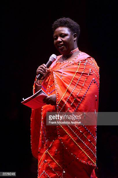 Agnes Pareyio performing on VDAY 2002 at Hammerstein Ballroom in New York City February 16 2002 Photo by Frank Micelotta/Getty Images