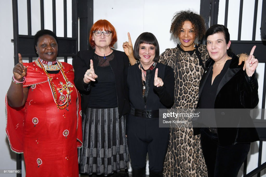 Agnes Pareyio, Rada Boric, Eve Ensler, Christine Schuler Deschryver and Susan Celia Swan speaks during V20: My Revolution Lives In This Body activist evening, a V-Day 20th anniversary event at ABC Carpet on February 12, 2018 in New York City.