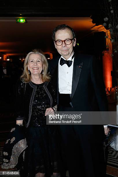 Agnes Schweitzer and Louis Schweitzer attend the Arop Charity Gala At the Opera Garnier under the auspices of Madam Maryvonne Pinault on March 9 2016...