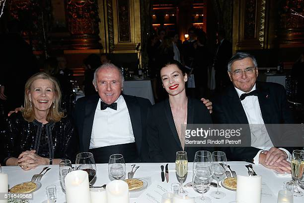 Agnes Schweitzer Francois Pinault Aurelie Dupont and JeanLouis Beffa attend the Arop Charity Gala At the Opera Garnier under the auspices of Madam...