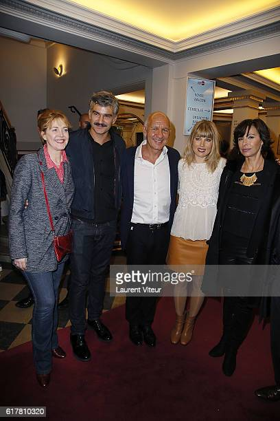 Agnes Soral Francois Vincentelli guest Melanie Page and Mathilda May attend 'L'Heureux Elu' theater play premiere at Theatre de La Madeleine on...