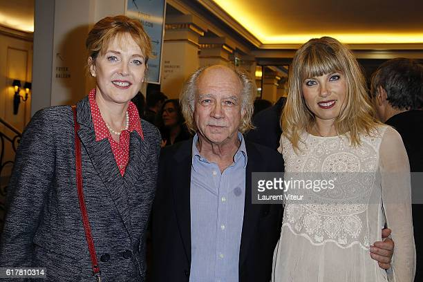 Agnes Soral guest and Melanie Page attend 'L'Heureux Elu' theater play premiere at Theatre de La Madeleine on October 24 2016 in Paris France