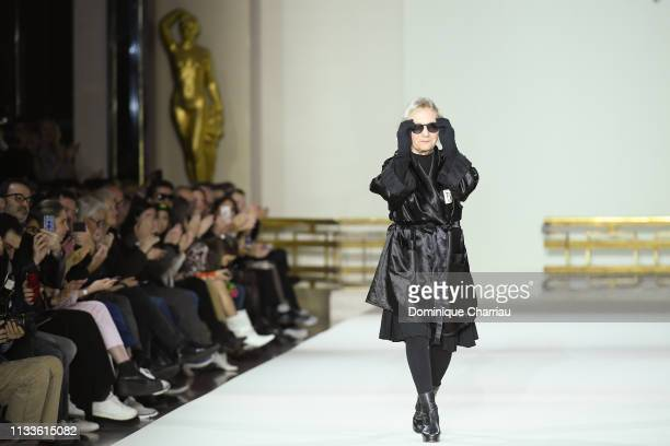 Agnes Trouble walks the runway during the Agnes B show as part of the Paris Fashion Week Womenswear Fall/Winter 2019/2020 on March 04 2019 in Paris...