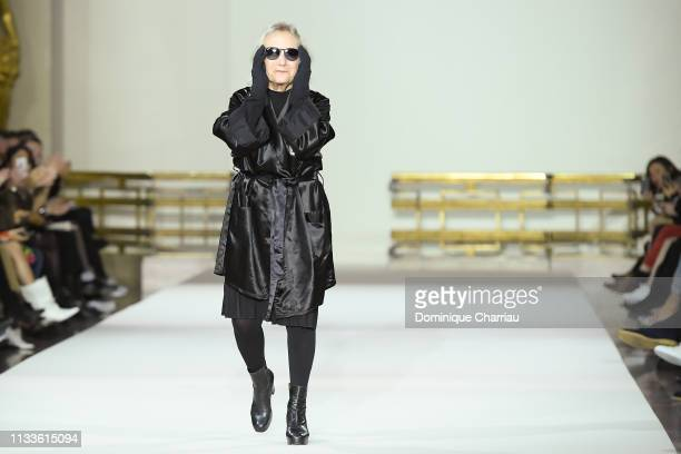 Agnes Trouble walks the runway during the Agnes B. Show as part of the Paris Fashion Week Womenswear Fall/Winter 2019/2020 on March 04, 2019 in...