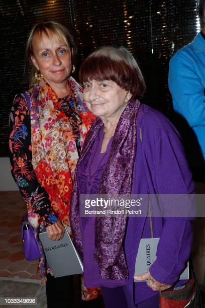 Agnes Varda and her daughter Rosalie Varda attend the Kering Heritage Days Opening Night at 40 Rue de Sevres on September 14 2018 in Paris France