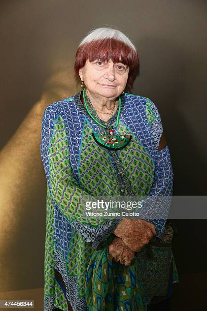 Agnes Varda attends Kering Talks 'Women In Motion' At The 68th Annual Cannes Film Festival on May 23 2015 in Cannes France