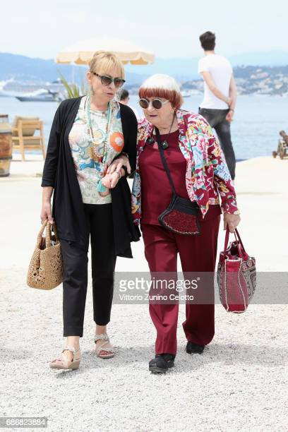 Agnes Varda attends Kering Women in motion Lunch with Madame Figaro on May 22, 2017 in Cannes, France.