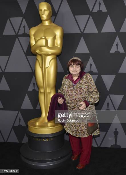 Agnes Varda attends the 90th Annual Academy Awards Oscar Week Celebrates Documentaries at Samuel Goldwyn Theater on February 28 2018 in Beverly Hills...