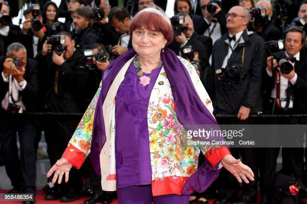 Agnes Varda attends the screening of BlacKkKlansman during the 71st annual Cannes Film Festival at Palais des Festivals on May 14 2018 in Cannes...