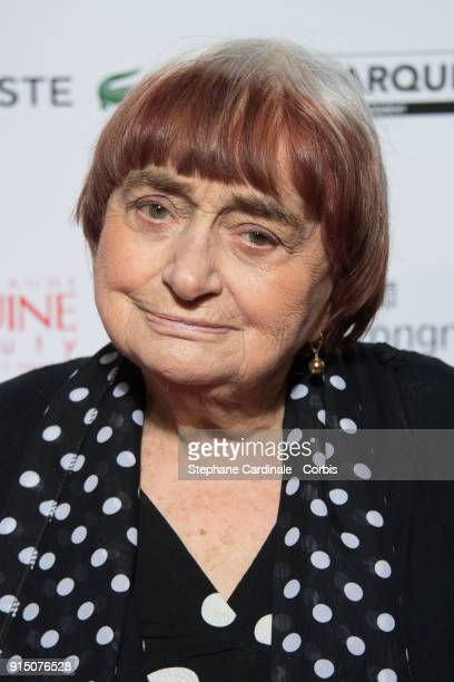 Agnes Varda attends the 'Trophees du Film Francais' 25th Ceremony at Palais Brongniart on February 6 2018 in Paris France
