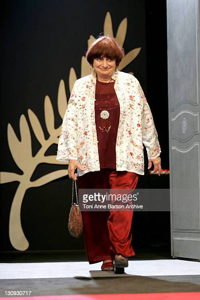 Agnes Varda during 2005 Cannes Film Festival Cannes Awards Inside at Palais de Festival in Cannes France