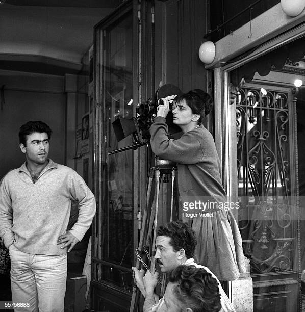 Agnes Varda French director settling a scene of his film Cleo from 5 to 7 On 1961 ADR093015
