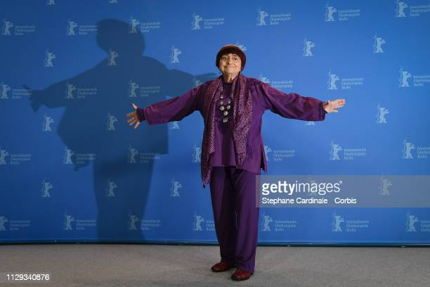 """Agnes Varda poses at the """"Varda By Agnes"""" photocall during the 69th Berlinale International Film Festival Berlin at Grand Hyatt Hotel on February 13,..."""