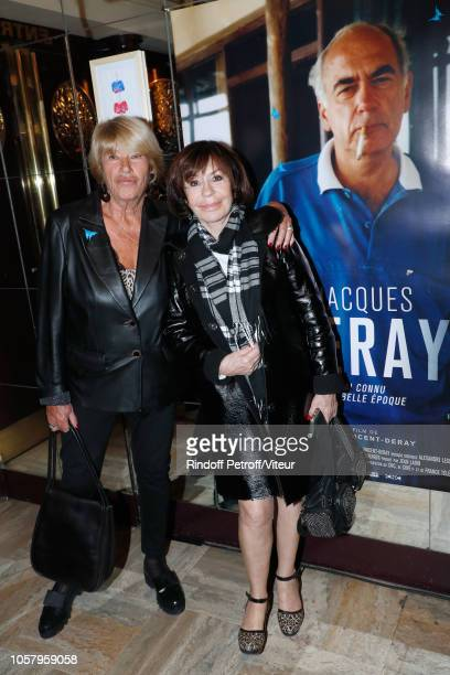 Agnes VincentDeray and actress Daniele Evenou attend the Tribute to Jacques Deray with the Jacques Deray J'ai connu une belle Epoque screening at...