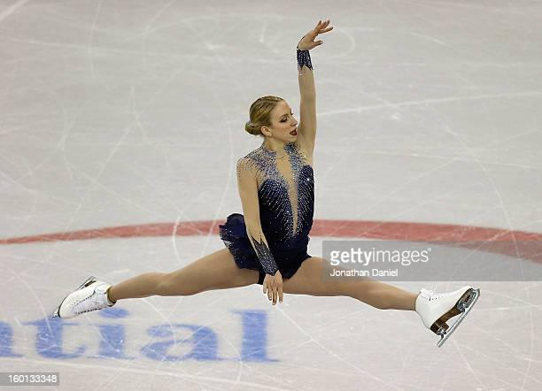 Agnes Zawadzki competes in the Ladies Free Skate during the 2013 Prudential U.S. Figure Skating Championships at CenturyLink Center on January 26,...