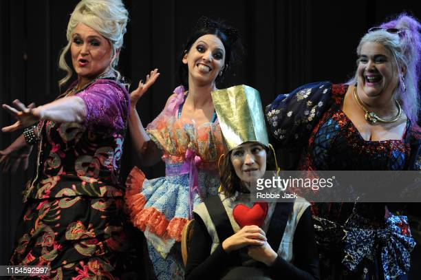 Agnes Zwierko as Madame de la Haitiere, Eduarda Melo as Noemie, Kate Lindsey as Prince Charming and Julie Pasturaud as Dorothee in Glyndebourne's...