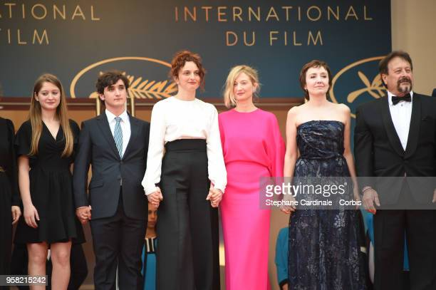 Agnese Graziani Adriano Tardiolo Alice Rohrwacher Alba Rohrwacher Nicoletta Braschi and Natalino Balasso attend the screening of 'Happy As Lazzaro '...