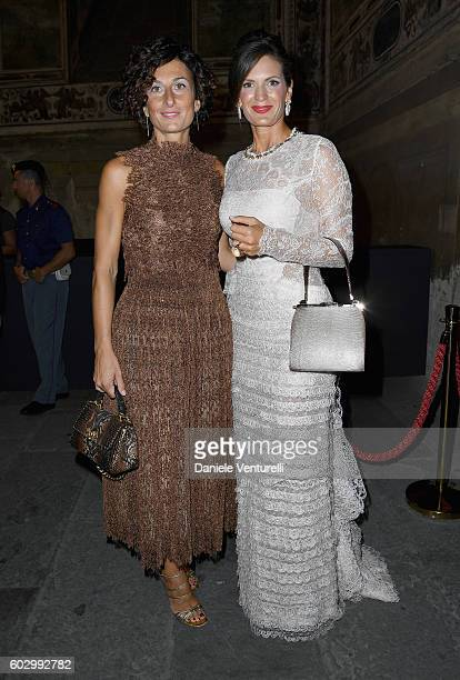Agnese Renzi and Veronica Bocelli attend the Celebrity Fight Night gala at Palazzo Vecchio as part of Celebrity Fight Night Italy benefiting The...