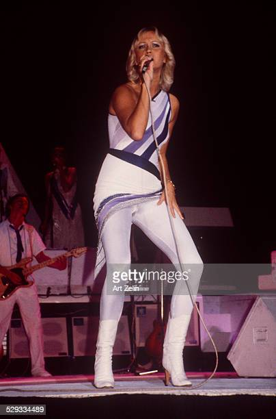 Agnetha Faltskog of Abba in performance circa 1970 New York