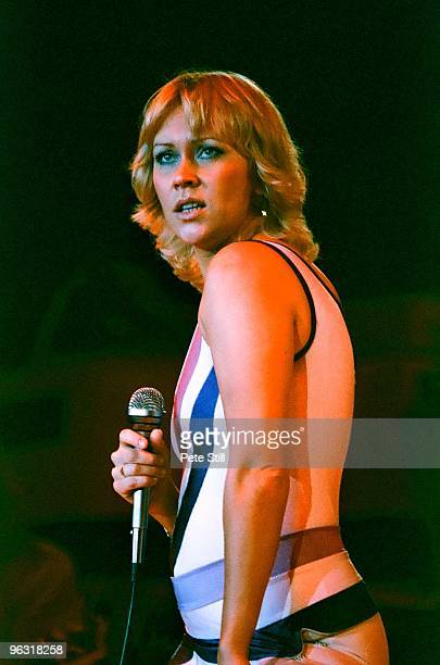Agnetha Faltskog of ABBA performs on stage at Wembley Arena on November 8th, 1979 in London, United Kingdom.