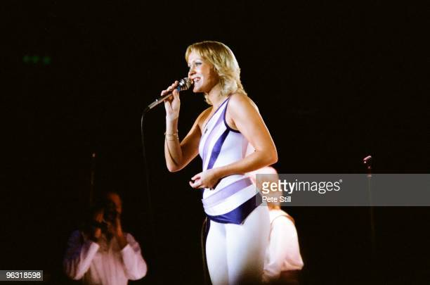 Agnetha Faltskog of ABBA performs on stage at Wembley Arena on November 8th 1979 in London United Kingdom