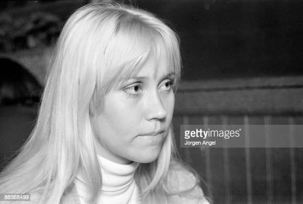 Agnetha Fältskog of pop group Abba posed in May 1975 in Copenhagen Denmark
