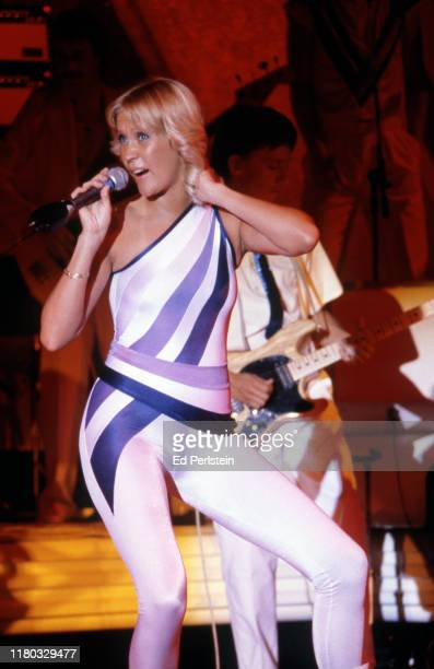 Agnetha Fältskog performs with ABBA at Concord Pavilion on September 19, 1979 in Concord, California.