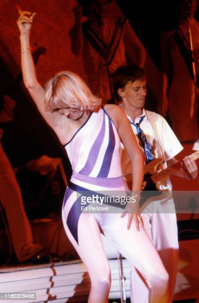 Agnetha Fältskog performs with ABBA at Concord Pavilion on September 19 1979 in Concord California