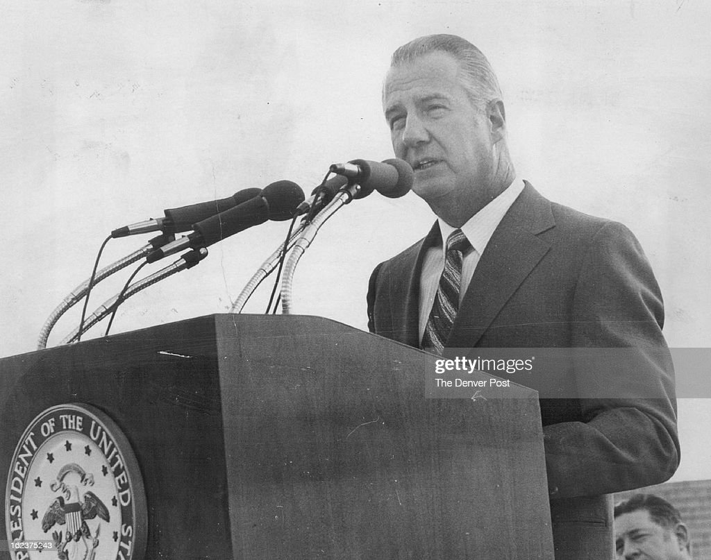 JUN 4 1971, JUN 9 1971; Agnew, Spiro T. - (Colorado Visits); ***** Stadium Before Graduation; *****  : News Photo