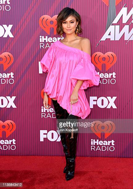 Agnez Mo attends the 2019 iHeartRadio Music Awards which broadcasted live on FOX at Microsoft Theater on March 14 2019 in Los Angeles California