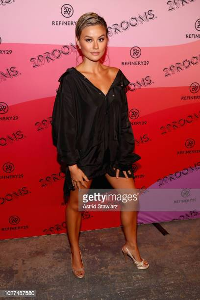 Agnez Mo attends the Expand Your Reality Opening Party on September 5 2018 in Brooklyn City