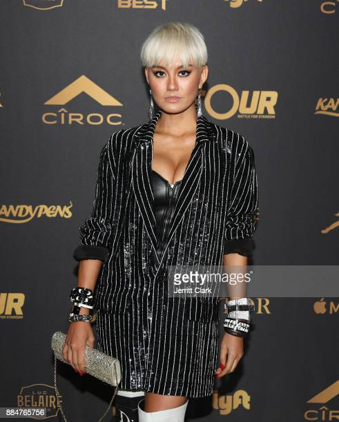 Agnez Mo attends The Four cast Sean Diddy Combs Fergie and Meghan Trainor Host DJ Khaled's Birthday Presented by CÎROC and Fox on December 2 2017 in...
