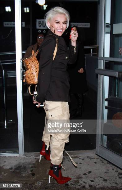 Agnez Mo is seen on November 07 2017 in New York City