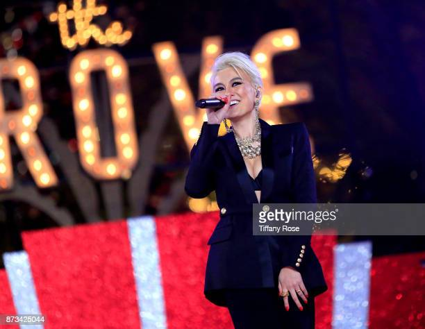 Agnez Mo performs onstage at A California Christmas at the Grove Presented by Citi on November 12 2017 in Los Angeles California