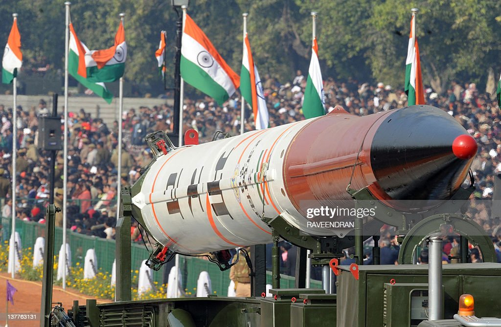 Agni IV missile is displayed at the Repu : News Photo