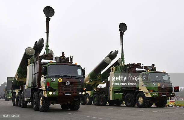 Agni Missiles System during the Army Day Parade on January 15 2016 in New Delhi India The Army Day is annually celebrated on January 15 It marks the...