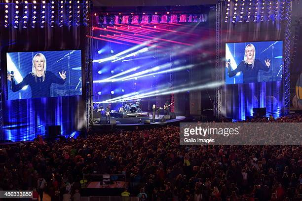 Agnieszka Chylinska takes part in Talent czy Factor on September 27 2014 at Arena Lublin Stadium in Lublin Poland A talent show showcasing the best...