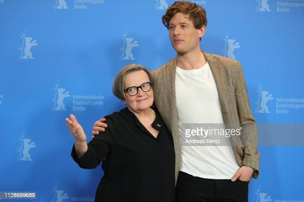 Agnieszka Holland and James Norton pose at the Mr Jones photocall during the 69th Berlinale International Film Festival Berlin at Grand Hyatt Hotel...