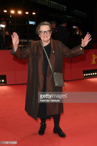 Agnieszka Holland arrives for the Mr Jones premiere during the 69th Berlinale International Film Festival Berlin at Berlinale Palace on February 10...