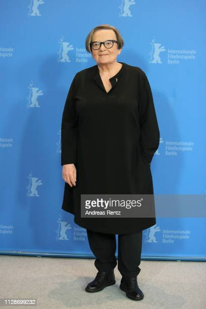 Agnieszka Holland poses at the Mr Jones photocall during the 69th Berlinale International Film Festival Berlin at Grand Hyatt Hotel on February 10...