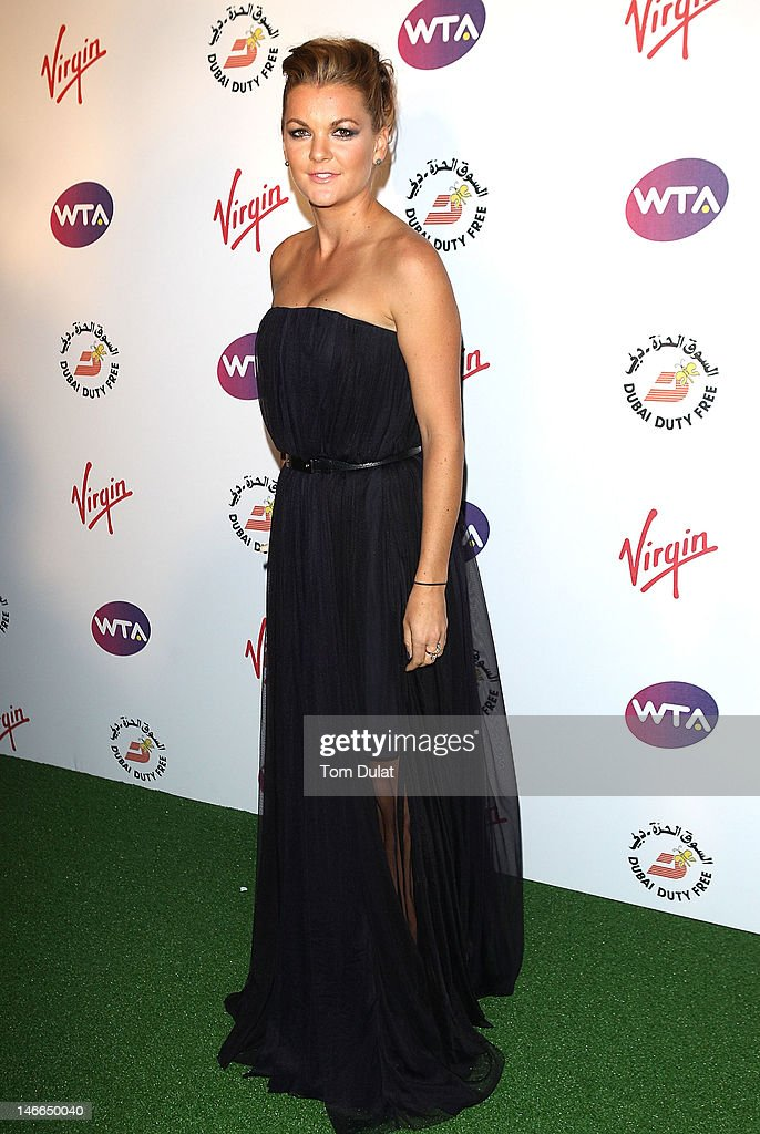 Agnieszka Radwanska arrives at the WTA Tour Pre-Wimbledon Party at The Roof Gardens, Kensington on June 21, 2012 in London, England.
