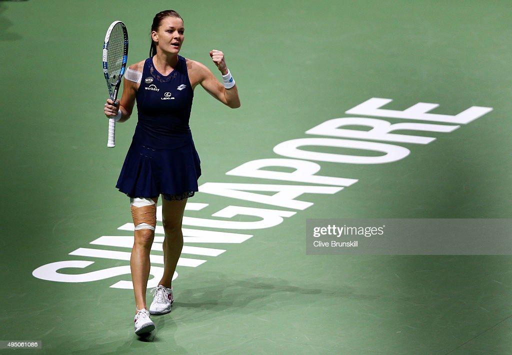 BNP Paribas WTA Finals: Singapore 2015 - Day Seven : Nyhetsfoto