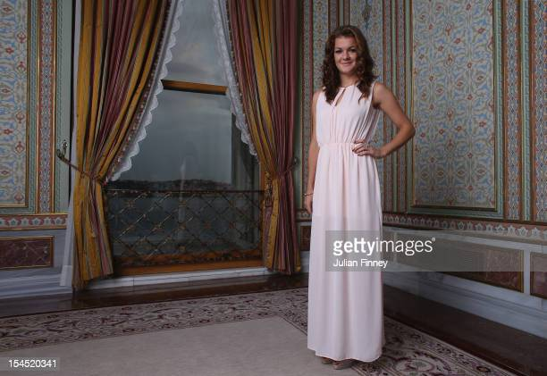 Agnieszka Radwanska of Poland poses for a portrait during previews for the TEB BNP Paribas WTA Championships Istanbul on October 21 2012 in Istanbul...
