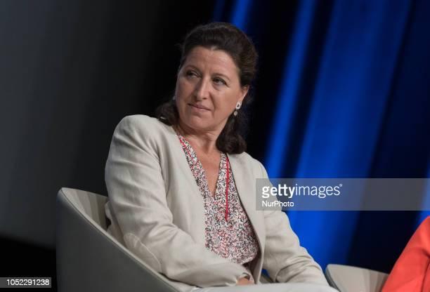 Agnès Buzyn Minister of health attends the quotCongres de l'Union nationale des centres communaux d'action socialequot in Nantes western France on...