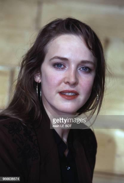 Agnès Soral actrice le 9 mars 1996 à Nantes France