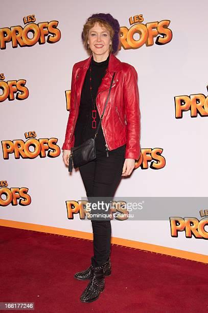 Agnès Soral attends the 'Les Profs' Premiere at Le Grand Rex on April 9 2013 in Paris France
