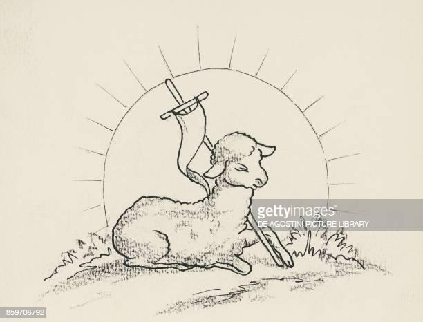 Agnus Dei or Lamb of God drawing